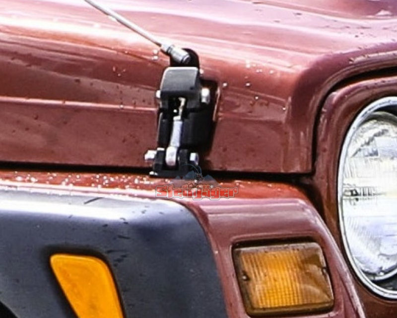 Steinjager J0023990 Plated Steel Adjustable Hood Latch and Mounting Hardware Jeep Wrangler TJ 97-06