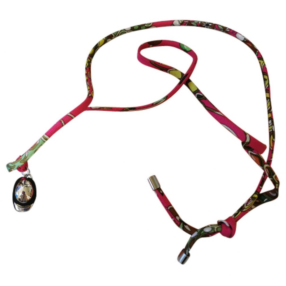 Hermes - Bracelet   pour femme en toile - rose