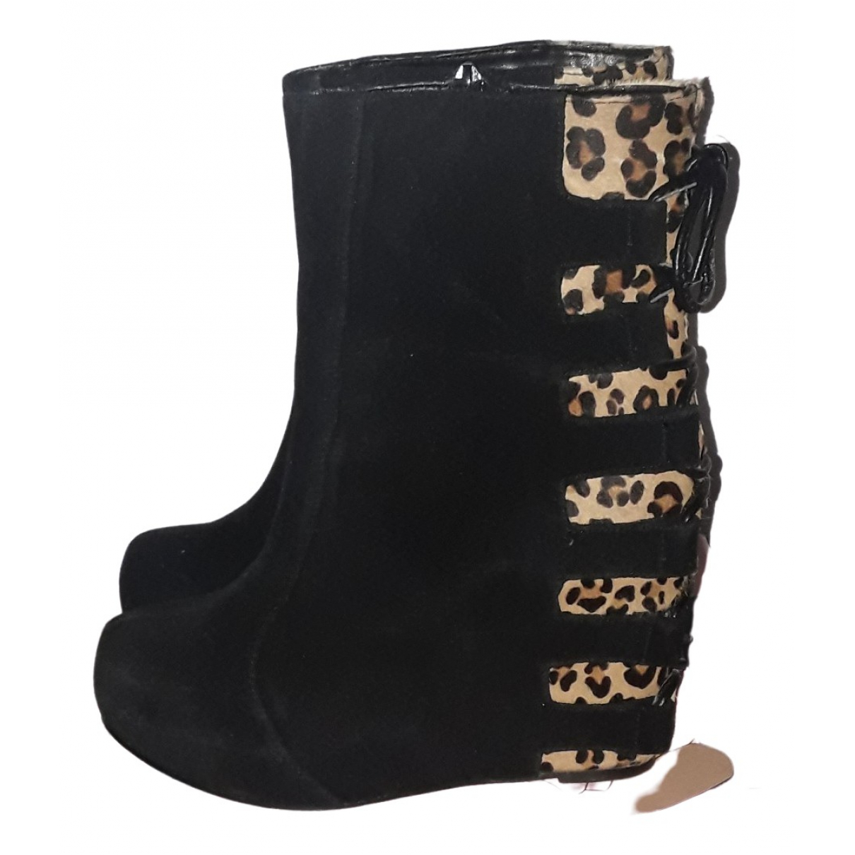 Jeffrey Campbell \N Black Suede Ankle boots for Women 39 EU