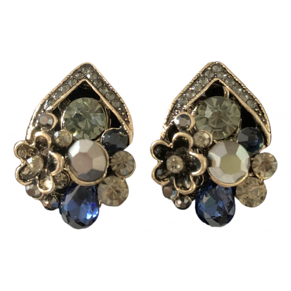 Non Signé / Unsigned Motifs Floraux Multicolour Metal Earrings for Women \N