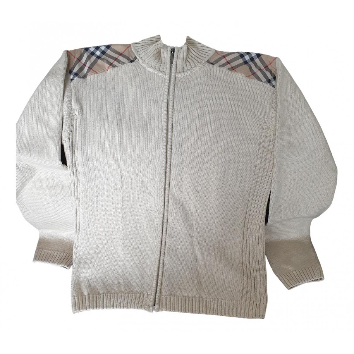 Burberry - Pull   pour femme en coton - beige