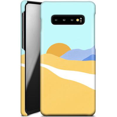 Samsung Galaxy S10 Plus Smartphone Huelle - Sunset Beach von Lucy Bohr