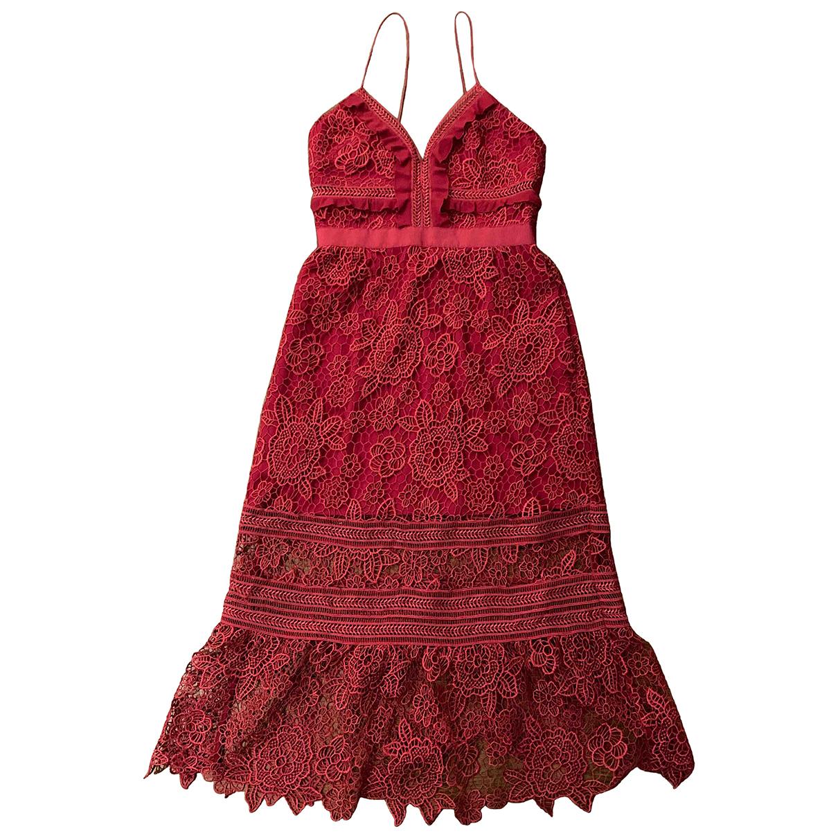 Self Portrait - Robe   pour femme en dentelle - rouge