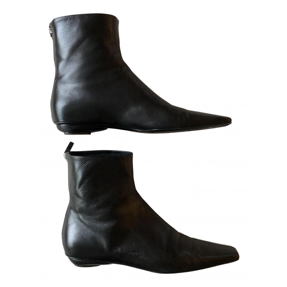 Toteme - Boots Flat Boot pour femme en cuir - noir