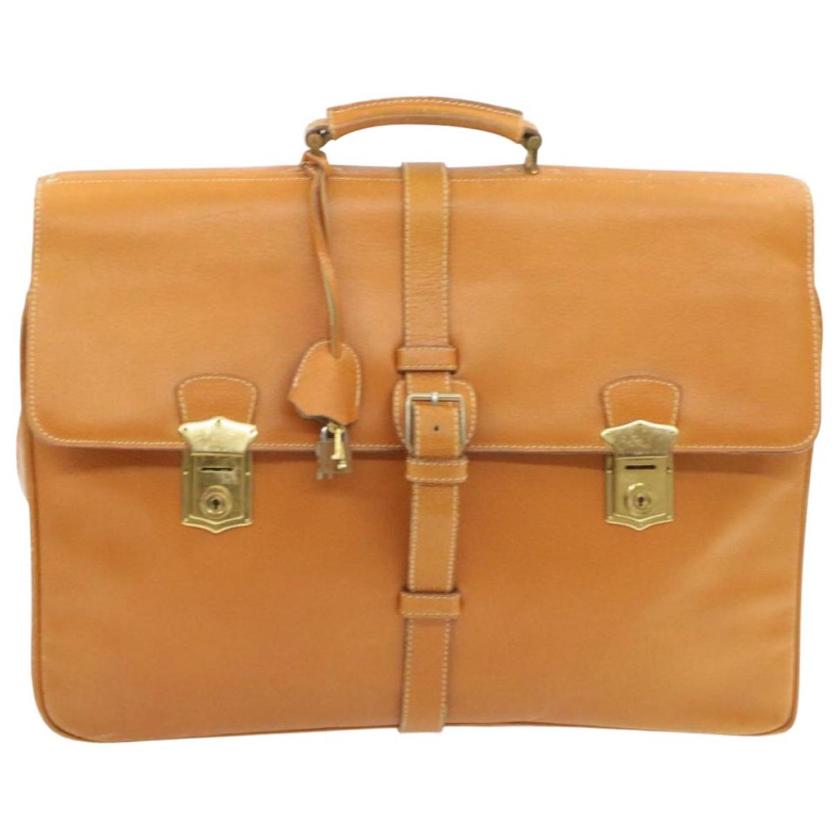 Prada - Sac de voyage   pour femme en cuir - marron