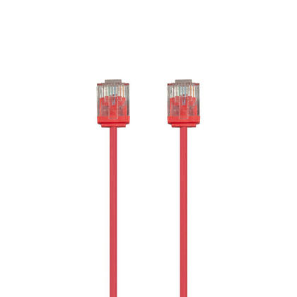 Micro SlimRun 550MHz 36AWG Cat6 UTP Stranded Ethernet Patch Cable - Monoprice� - 3ft, Red