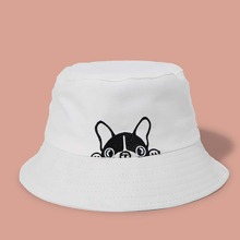 Men Cartoon Graphic Bucket Hat