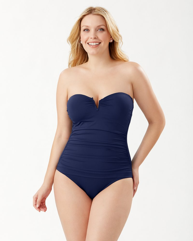 Pearl V-Front Bandeau One-Piece Swimsuit