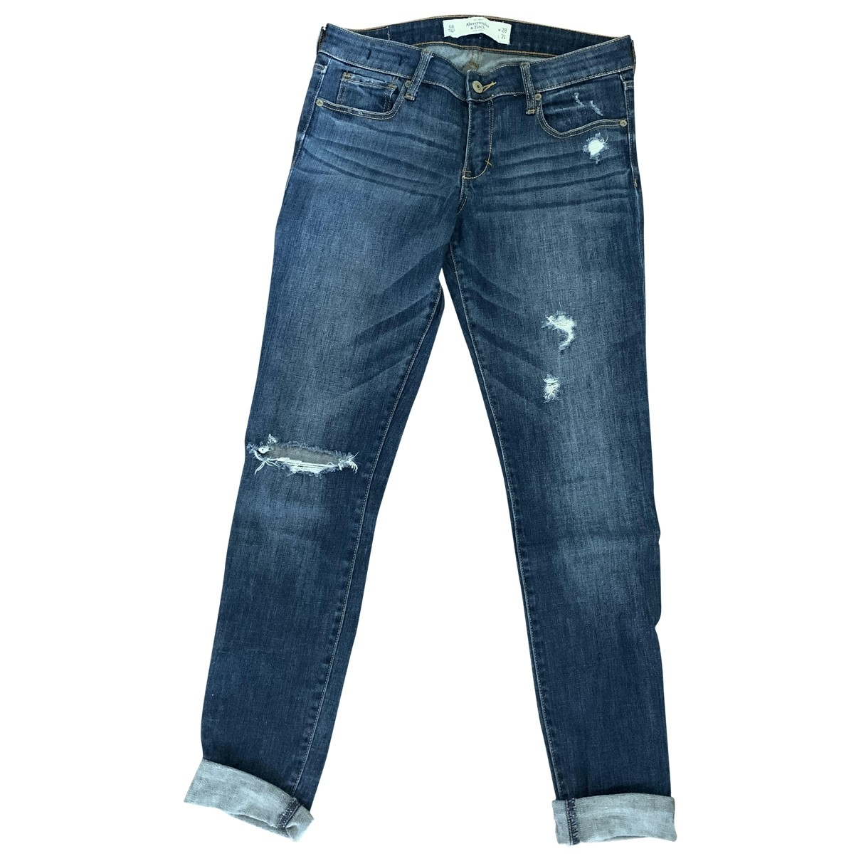Abercrombie & Fitch \N Blue Cotton - elasthane Jeans for Women 28 US