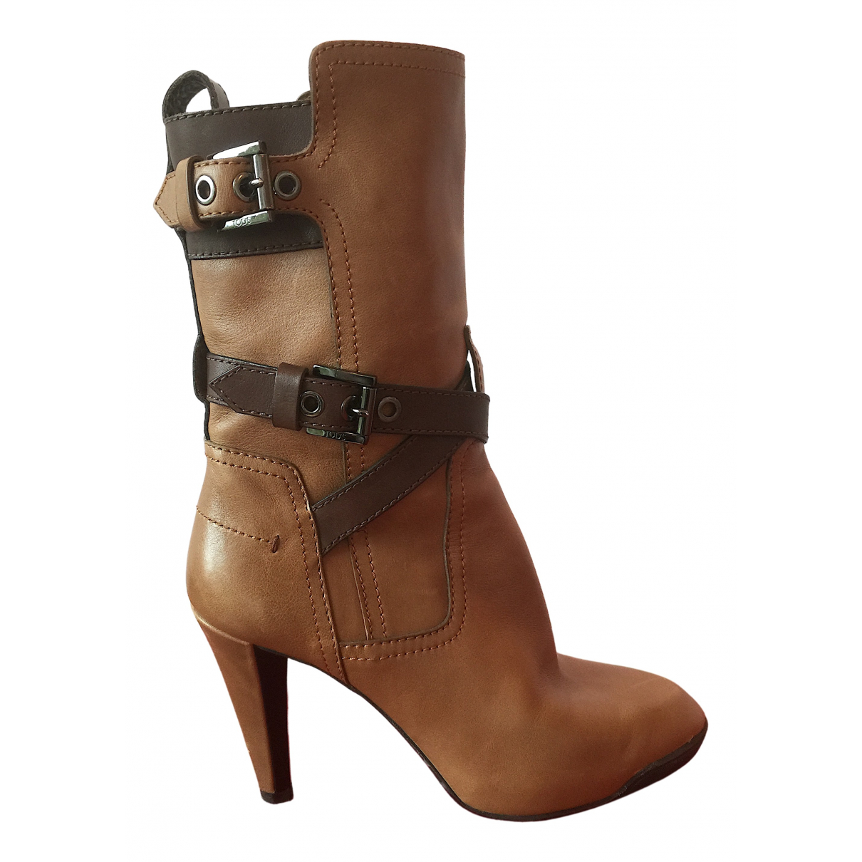 Tod's N Brown Leather Boots for Women 36.5 EU