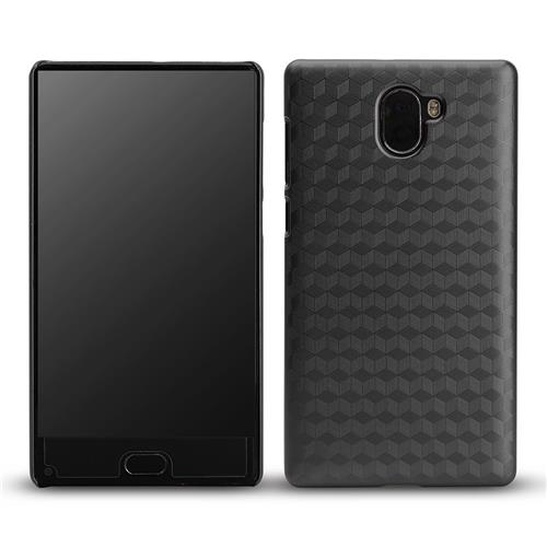 Hard Case Protective PC Metal Paint Back Cover Phone Shell For Leagoo KIICAA MIX - Black