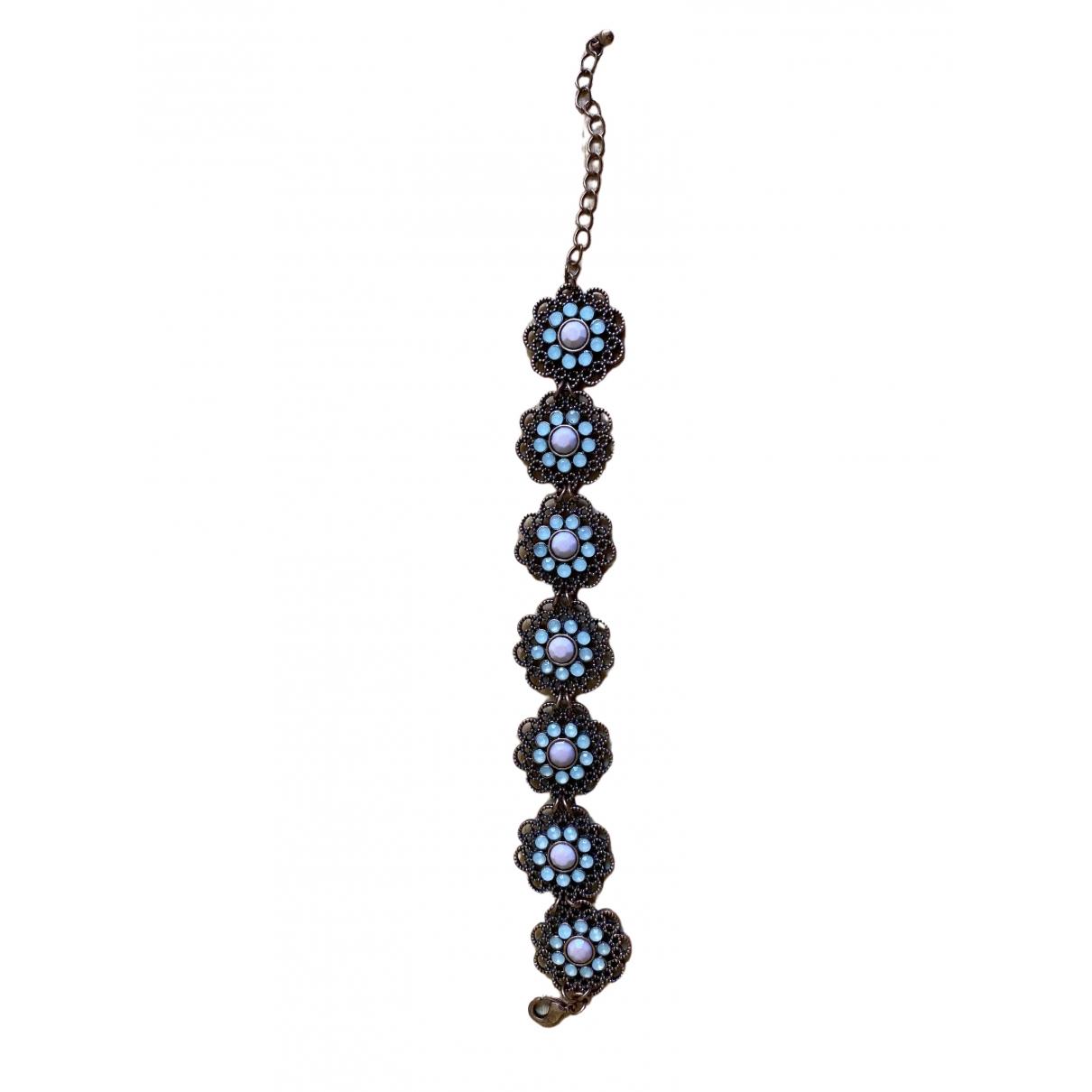Non Signé / Unsigned Art Déco Multicolour Steel bracelet for Women \N