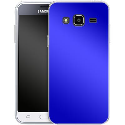 Samsung Galaxy J3 (2016) Silikon Handyhuelle - Test Blue von caseable Designs