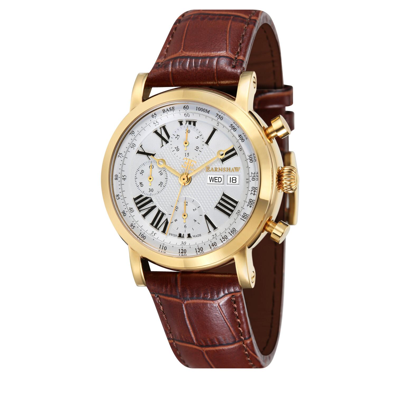 Thomas Earnshaw Men's Longcase ES-0024-04 Silver Leather Swiss Automatic Fashion Watch