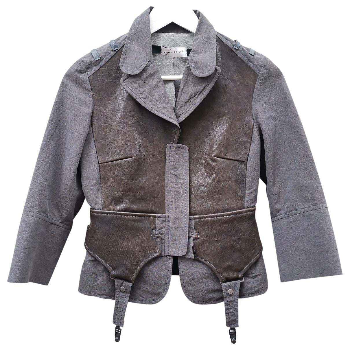 Non Signé / Unsigned \N Grey Linen jacket for Women 40 IT