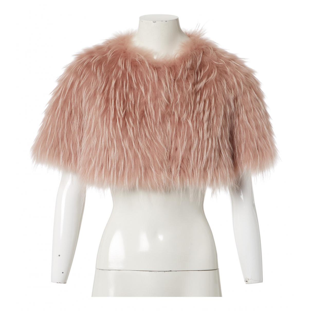 Red Valentino Garavani N Pink Raccoon jacket for Women 38 IT