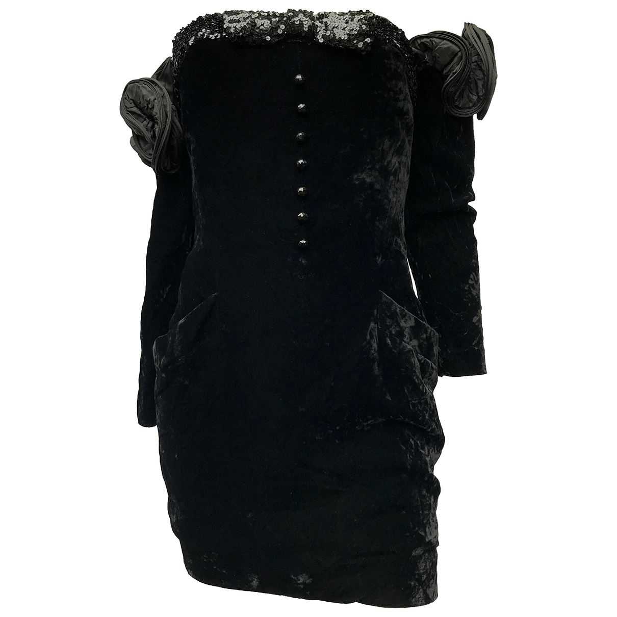 Nina Ricci \N Kleid in  Schwarz Samt