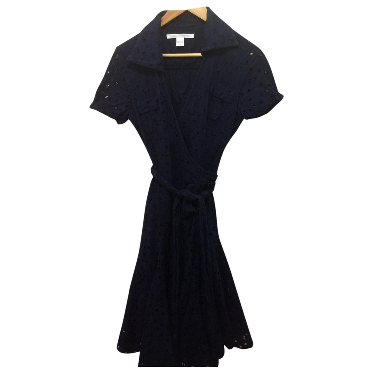 Diane Von Furstenberg \N Kleid in  Marine Baumwolle
