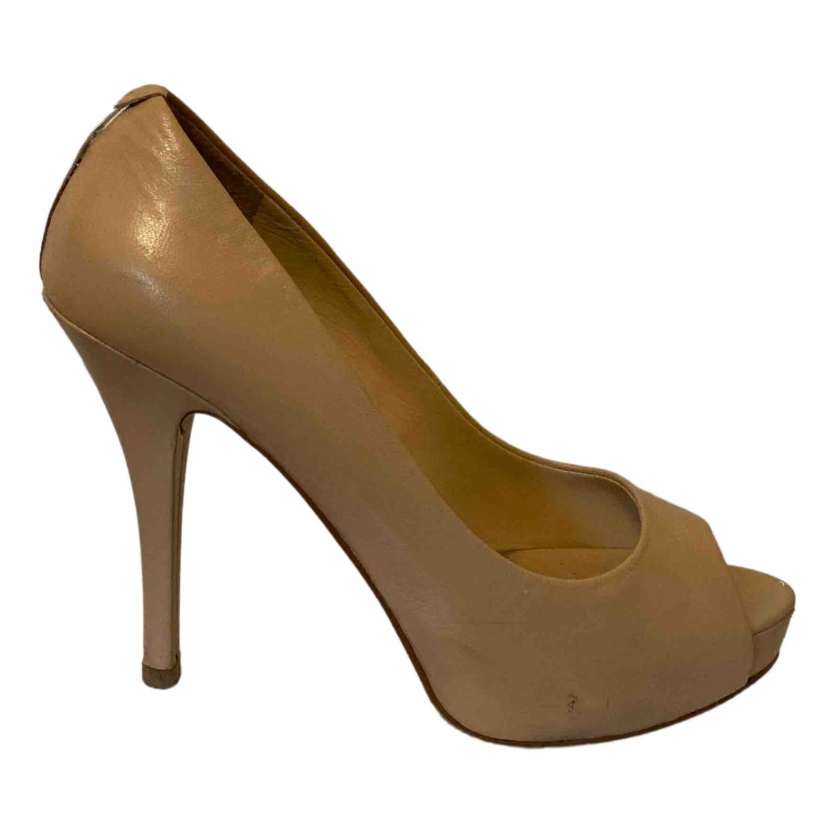 Guess - Escarpins   pour femme en cuir - beige
