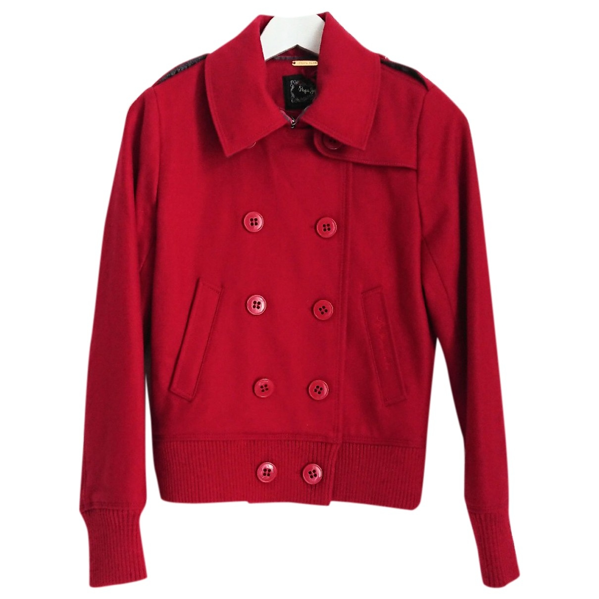 Patrizia Pepe \N Red Wool jacket for Women 36 FR