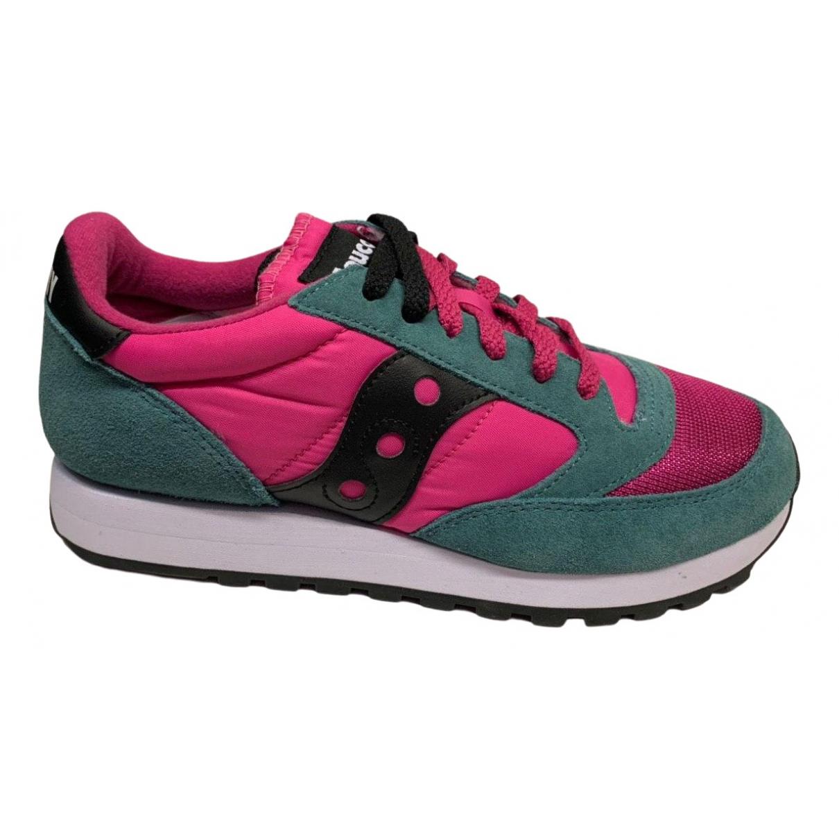 Saucony \N Sneakers in  Bunt Veloursleder