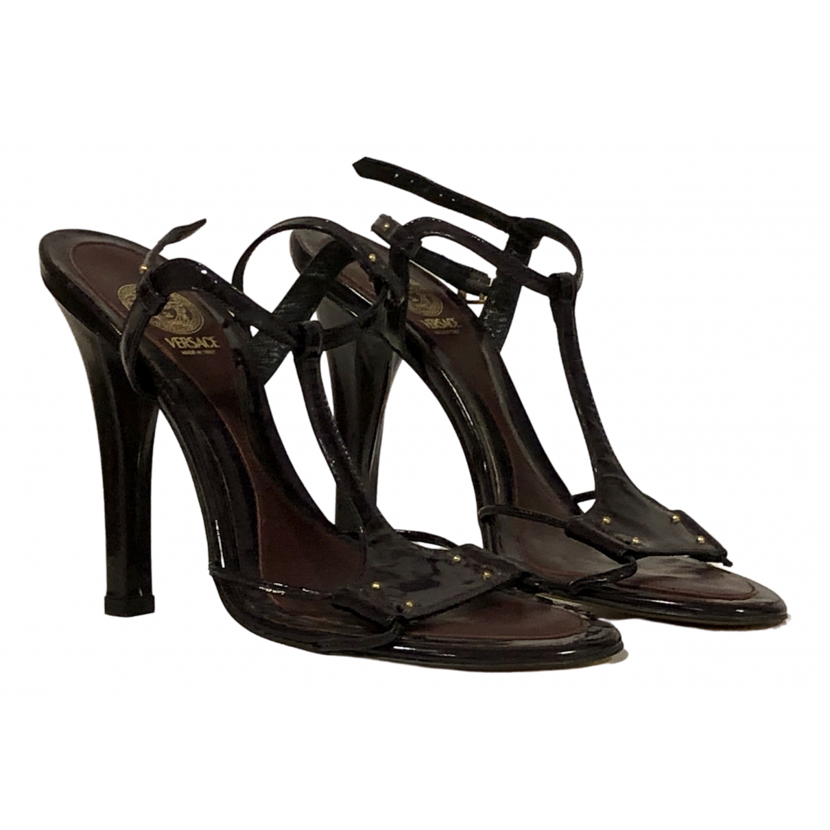 Versace \N Sandalen in  Lila Lackleder