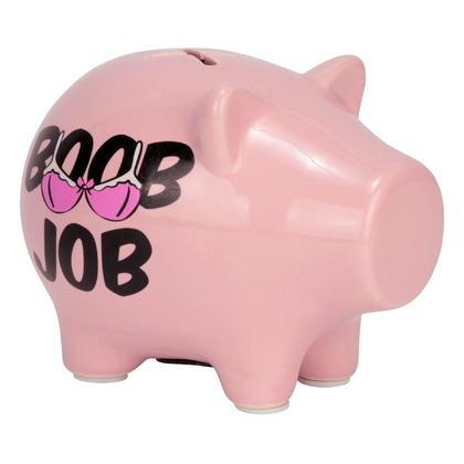 Pink BOOB JOB Piggy Bank
