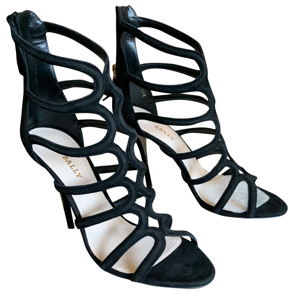 Bally - Sandales   pour femme en suede - noir