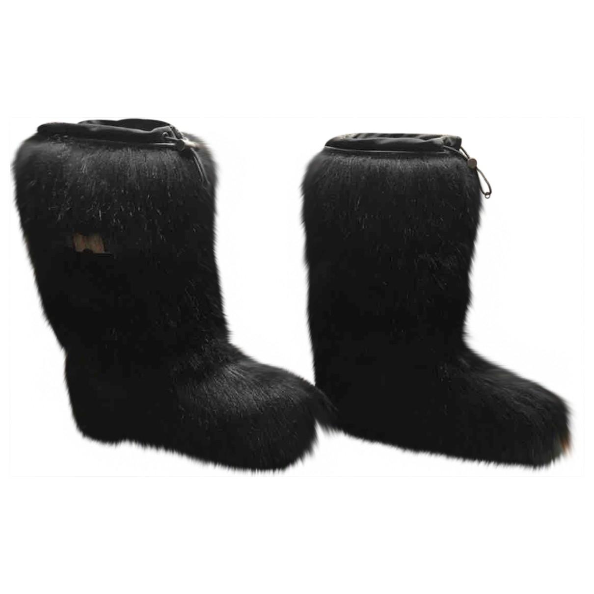 Prada \N Black Faux fur Boots for Women 37 EU