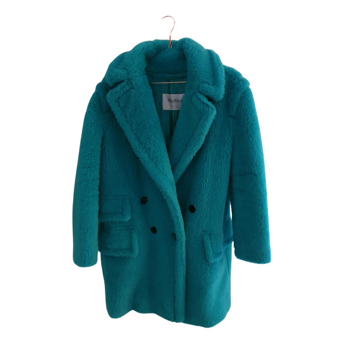 Max Mara - Manteau Teddy Bear Icon pour femme en fourrure - turquoise