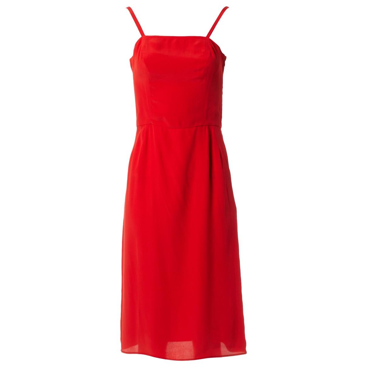 Balenciaga \N Kleid in  Rot Viskose