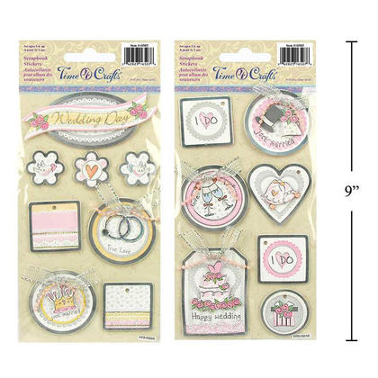 Wedding Self- Adhesive Handmade Stickers for Crafts & Arts, Random Style - Time 4 Crafts