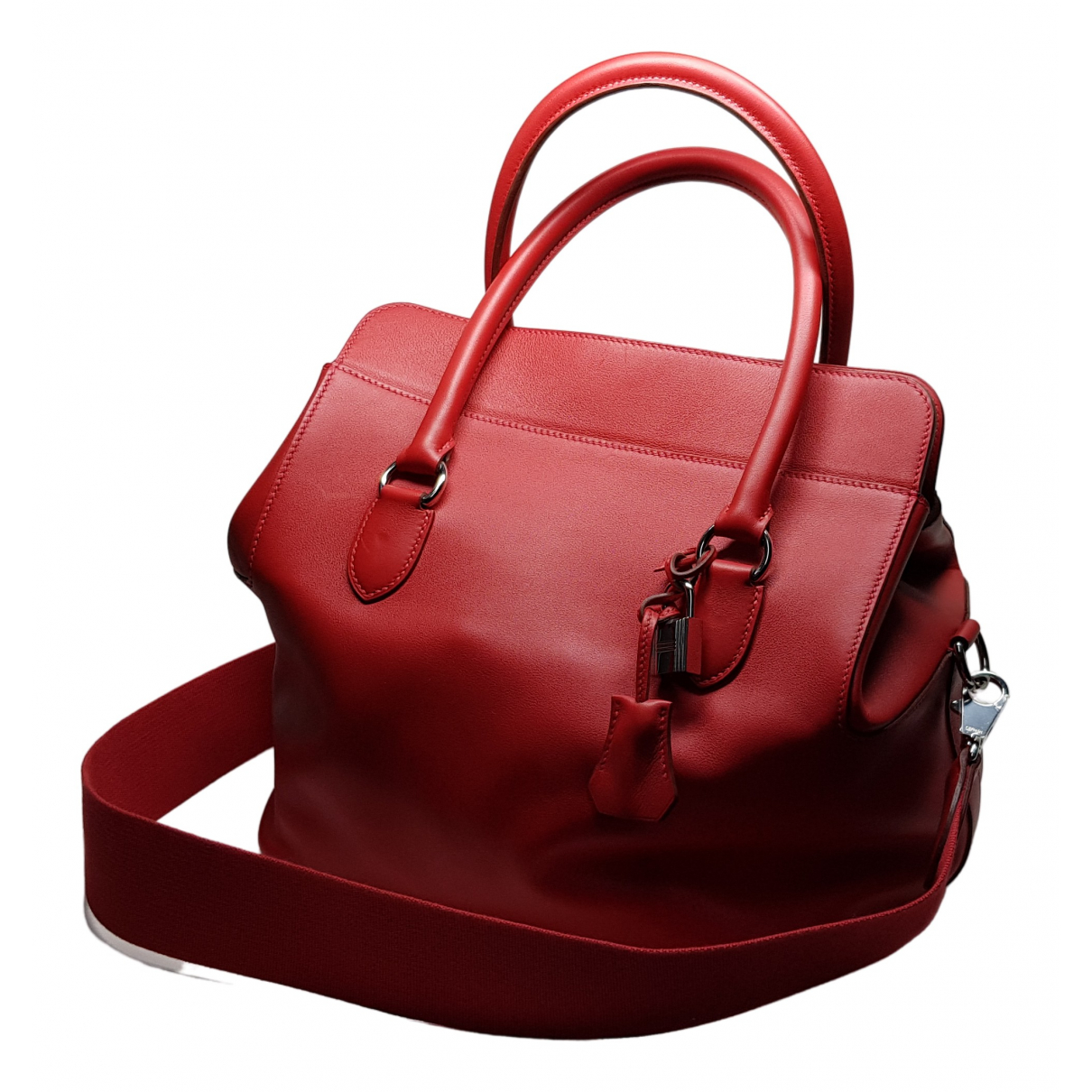 Hermès Toolbox Red Leather handbag for Women \N