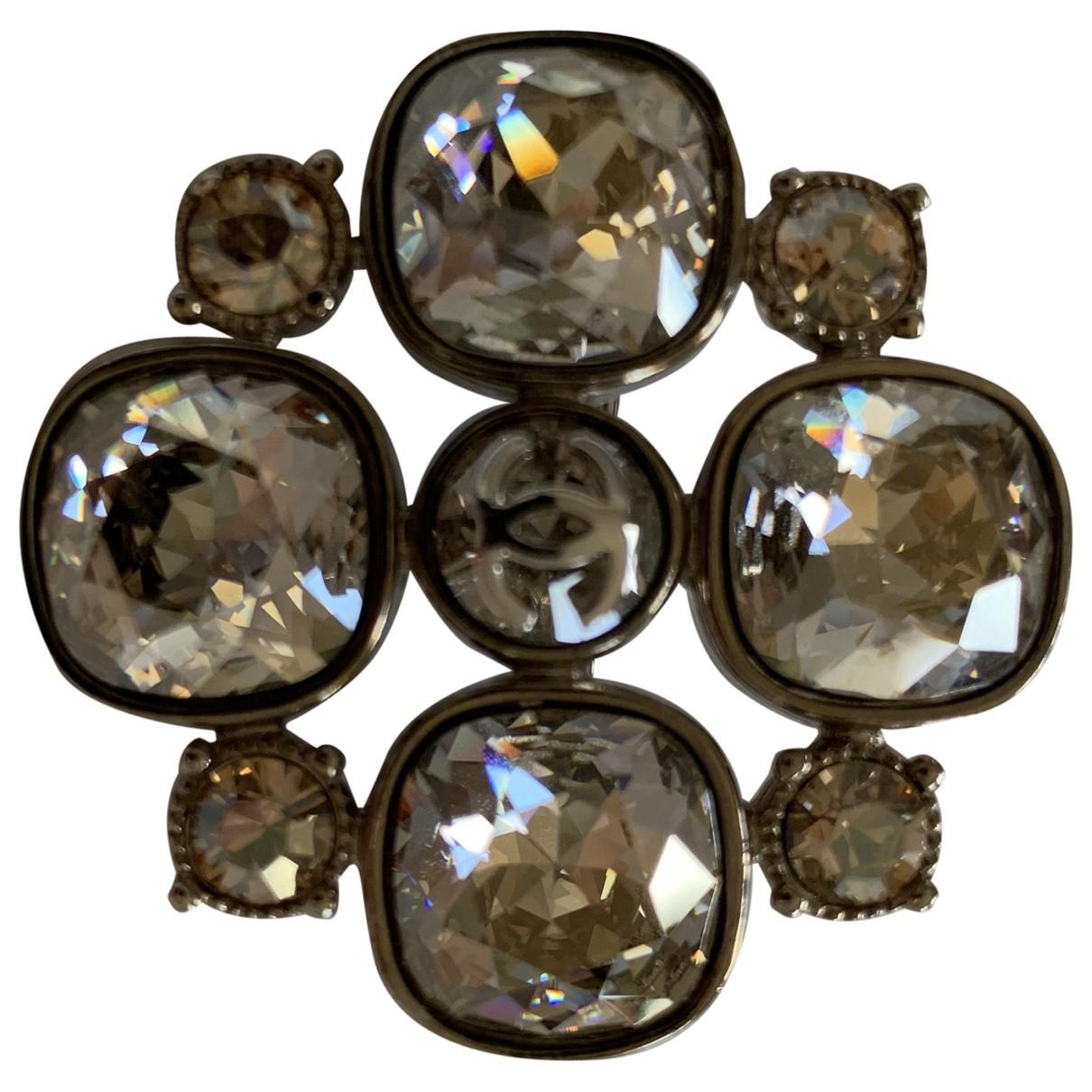 Chanel - Broche Camelia pour femme en cristal - dore