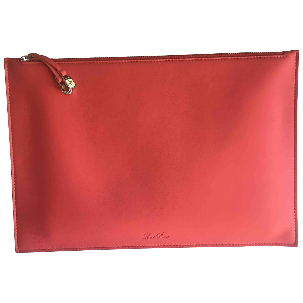 Loro Piana - Pochette   pour femme en cuir - rose