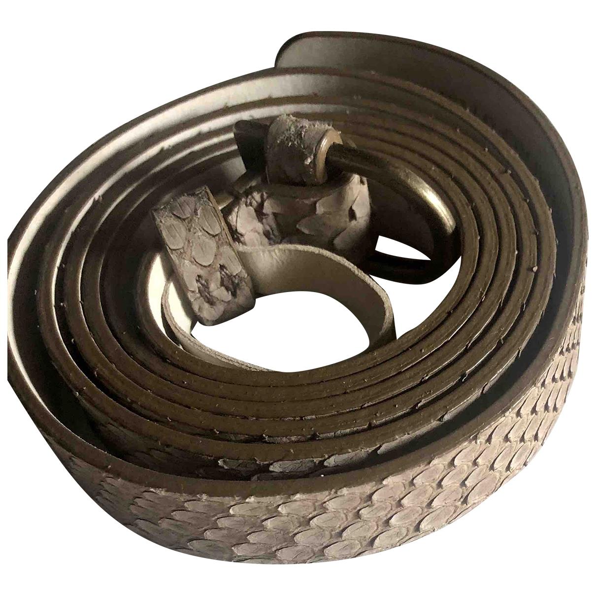 Brunello Cucinelli \N Beige Python belt for Women 85 cm