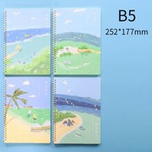 1pack Scenery Pattern Cover Random Spiral Notebook