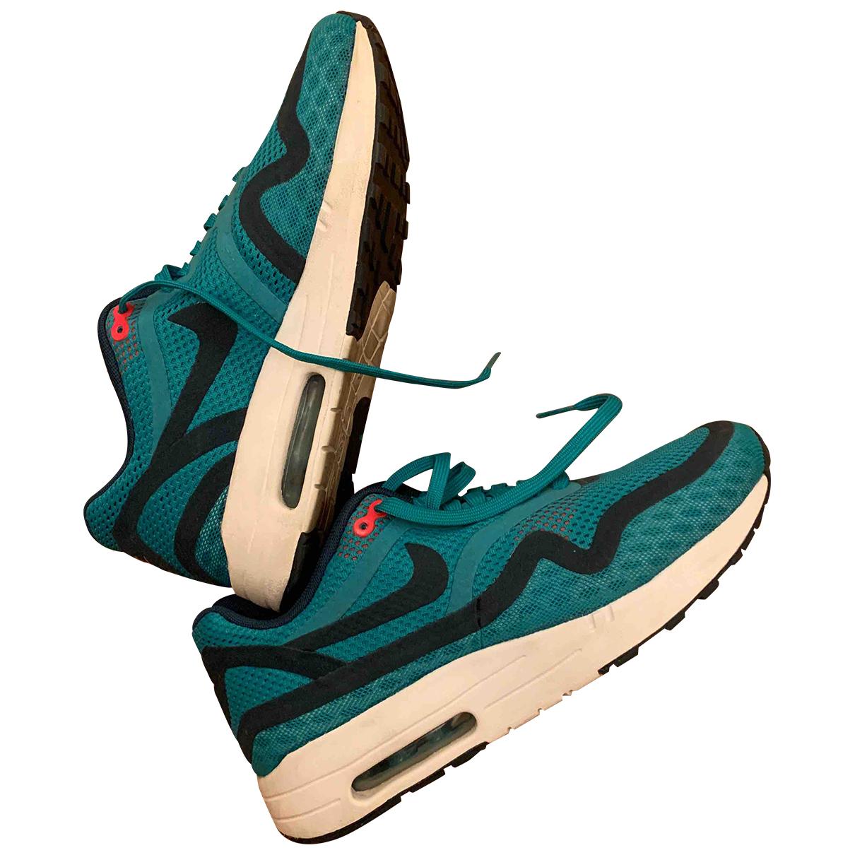 Nike Air Max  Sneakers in  Tuerkis Leinen