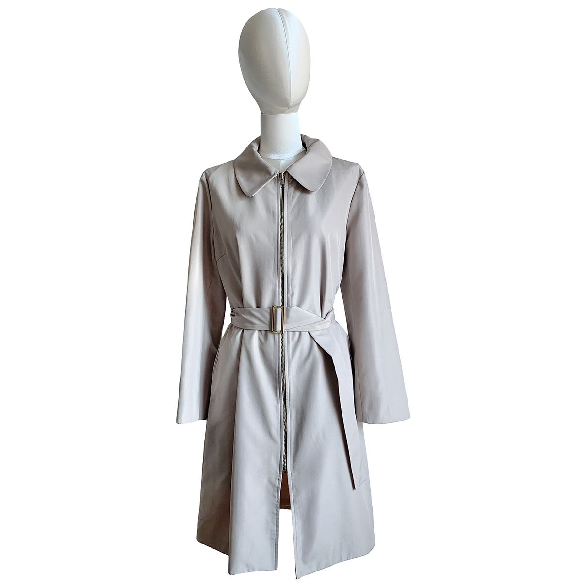 Donna Karan \N Trench in  Beige Polyester