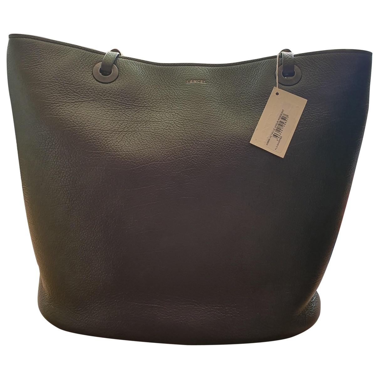 Lancel Flore Purple Leather handbag for Women \N
