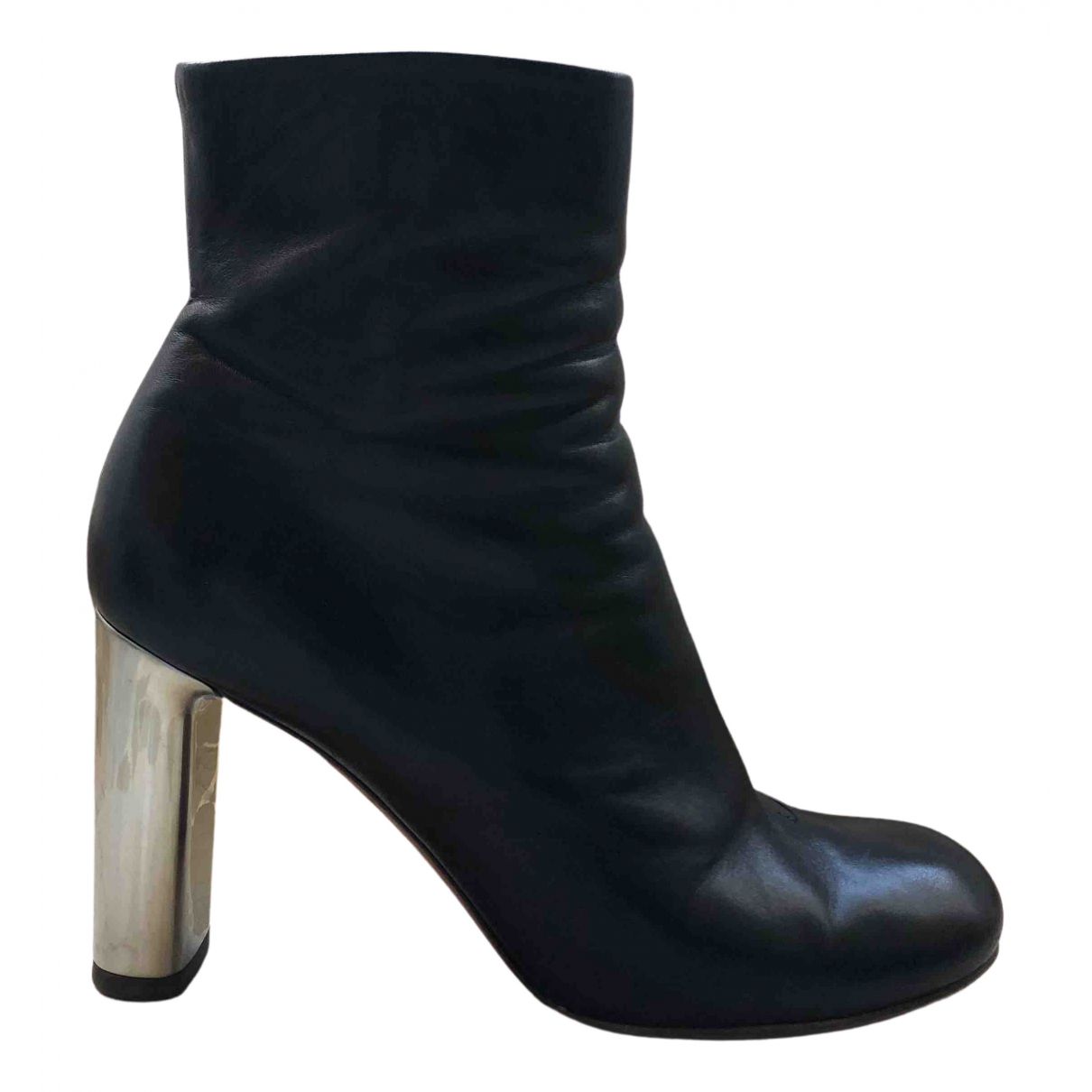 Celine N Black Leather Ankle boots for Women 37.5 EU