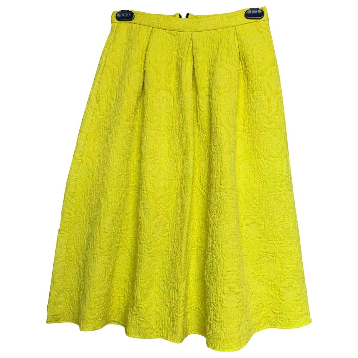 Topshop - Jupe   pour femme en coton - jaune
