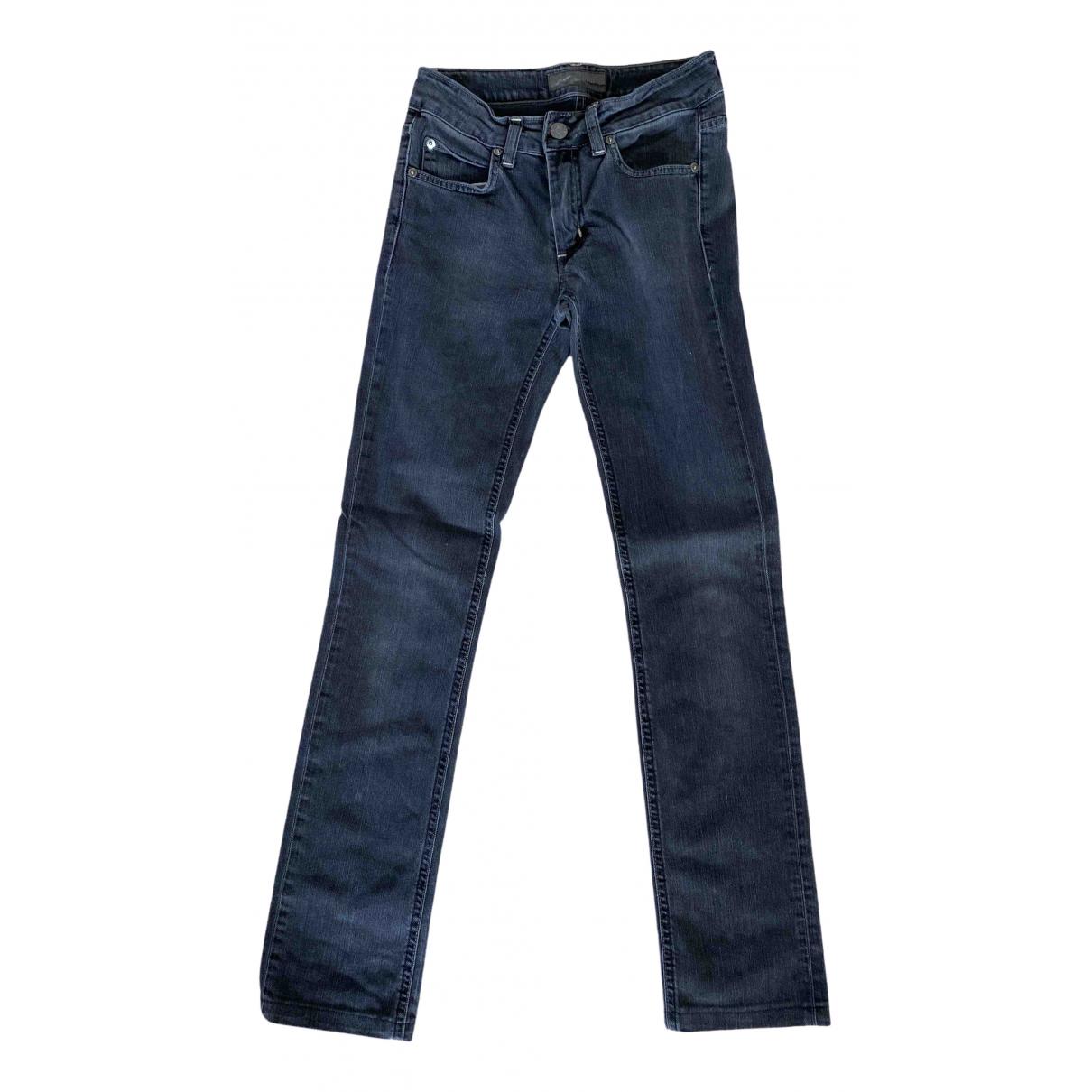 Acne Studios Hex Black Cotton - elasthane Jeans for Women 25 US