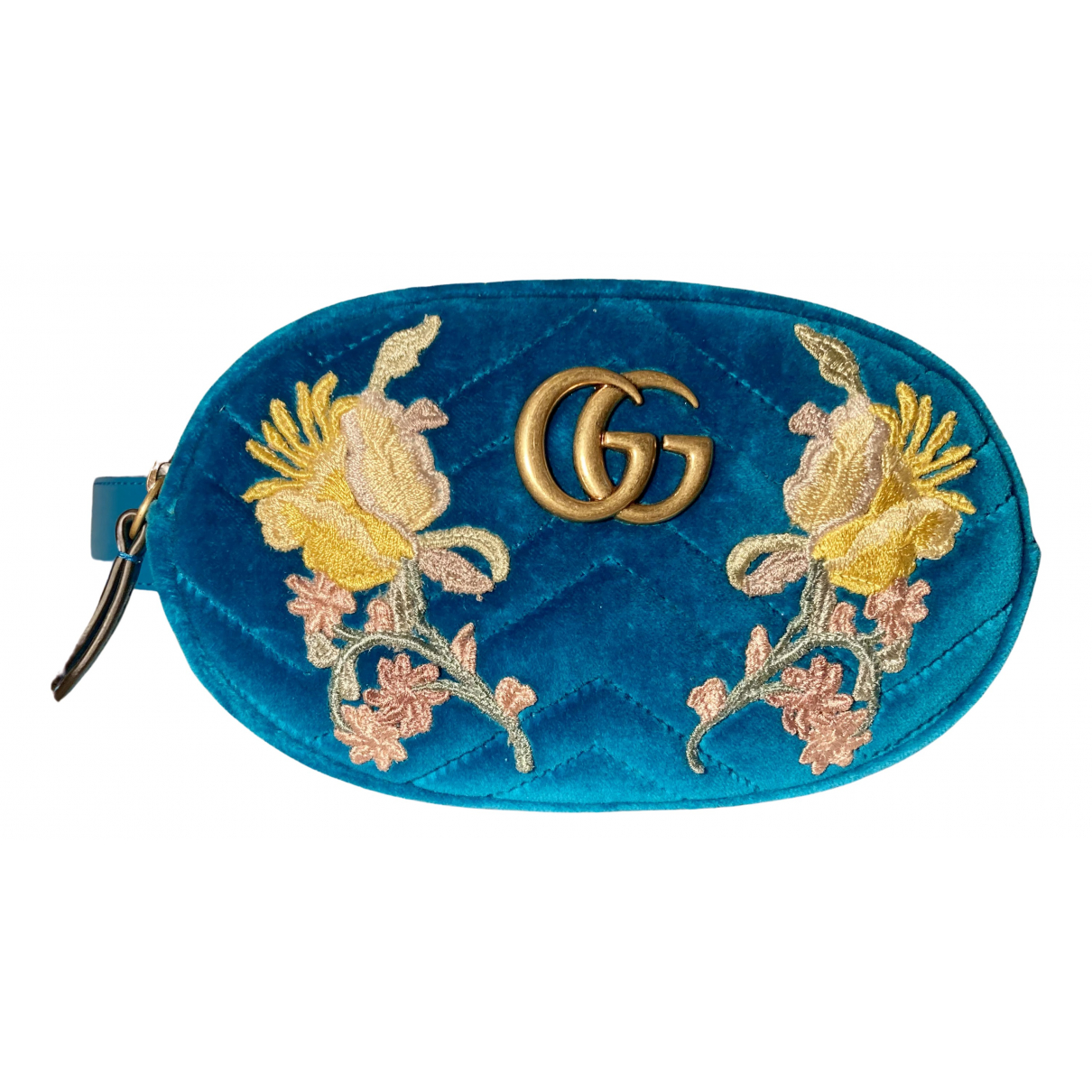 Gucci N Blue Velvet Clutch bag for Women N
