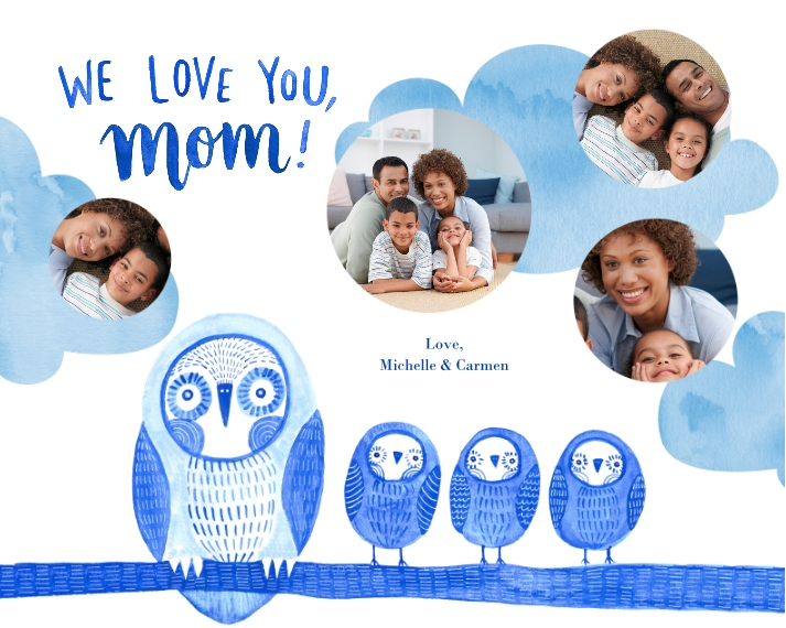Family + Friends 16x20 Adhesive Poster, Home Décor -Owl Little Family
