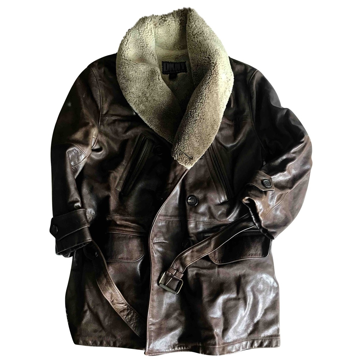 Dkny \N Brown Leather jacket  for Men M International