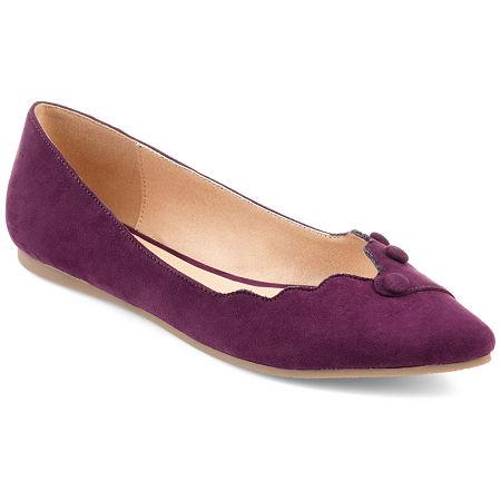 Journee Collection Womens Mila Ballet Flats, 6 1/2 Medium, Purple