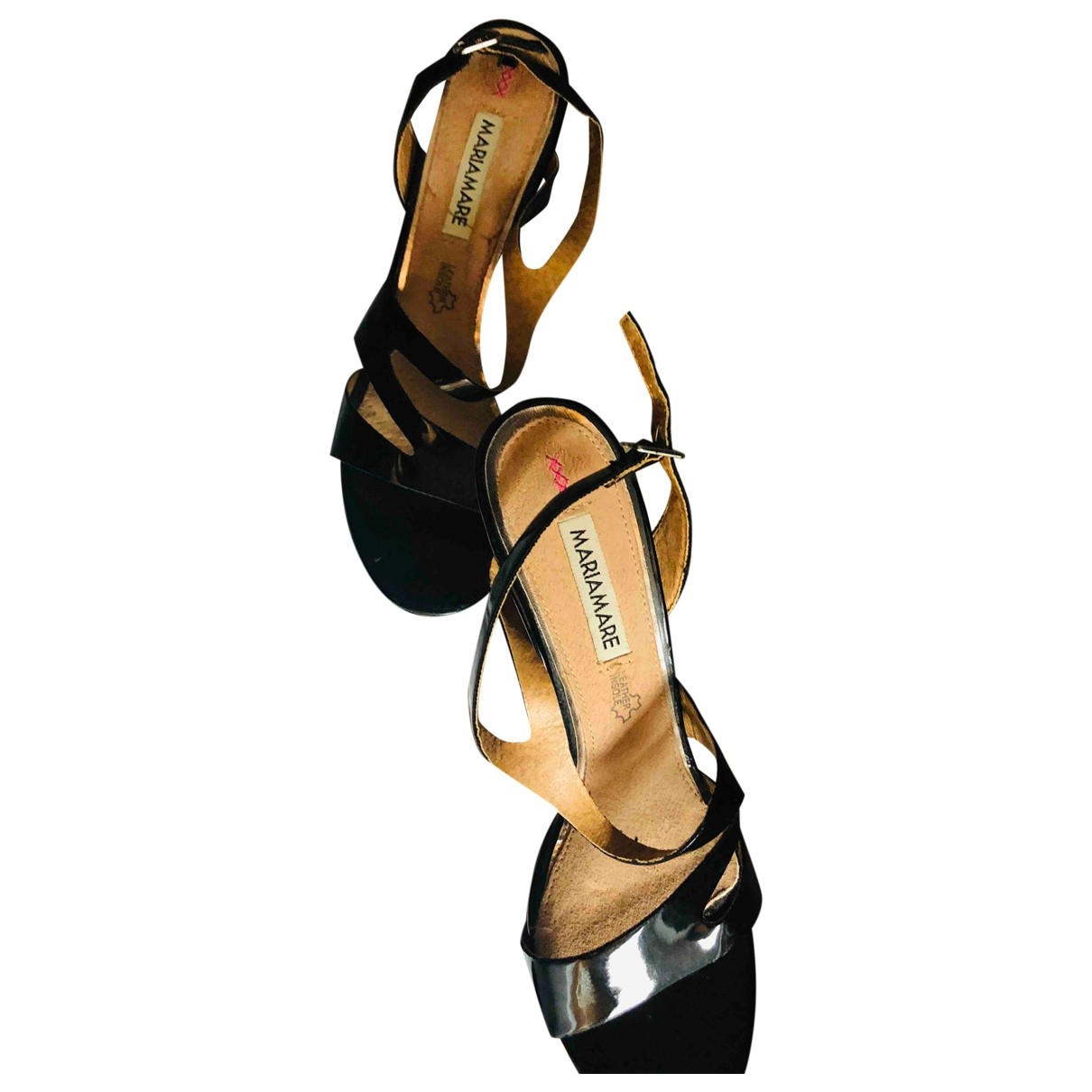 Non Signé / Unsigned \N Black Patent leather Sandals for Women 40 EU