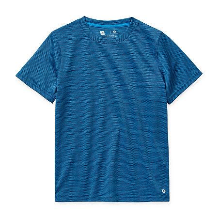 Xersion Little & Big Boys Short Sleeve T-Shirt, X-large (18-20) , Blue