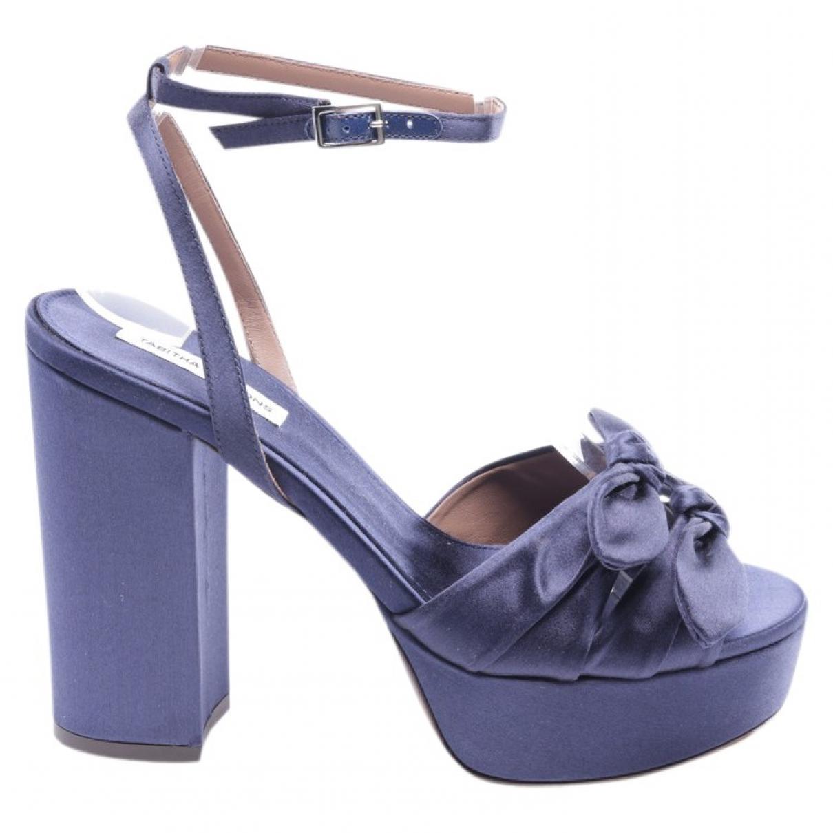 Tabitha Simmons - Sandales   pour femme en toile - bleu